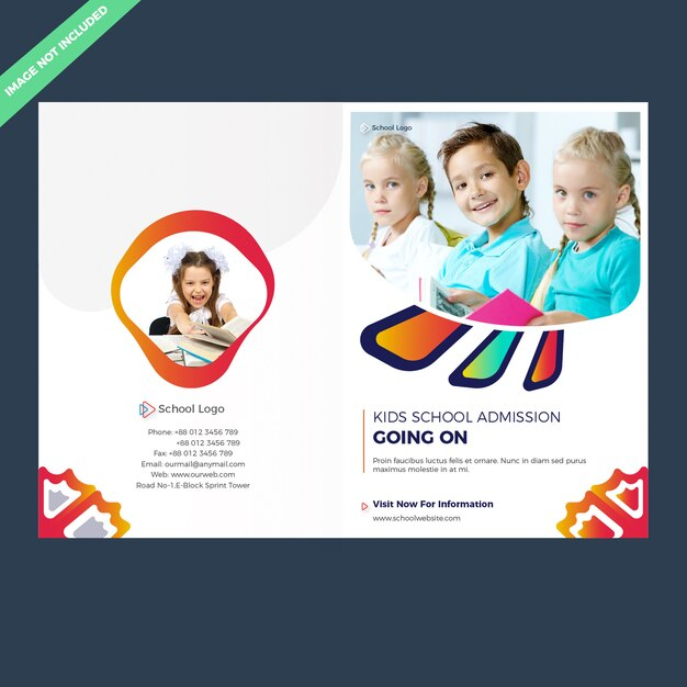 Bifold schulzulassung broschürenvorlage Premium Vektoren