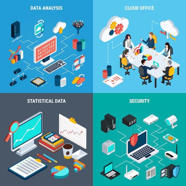 Big data 2x2 Kostenlosen Vektoren