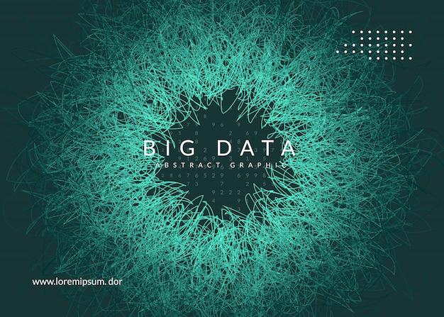 Big data hintergrund. technologie für visualisierung, künstliche intelligenz Premium Vektoren