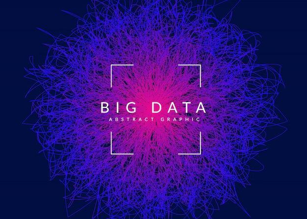 Big data hintergrund. technologie zur visualisierung Premium Vektoren