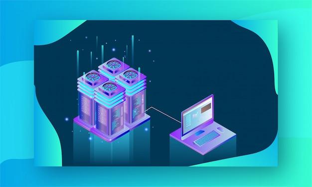 Big data-konzept. Premium Vektoren