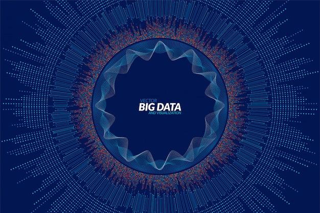 Big data visualisierung. futuristische infografik. informationsästhetisches design Premium Vektoren