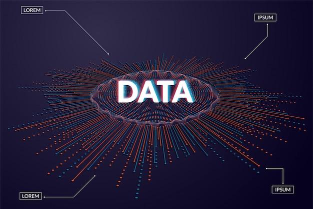 Big data visualisierung. futuristische infografik Premium Vektoren