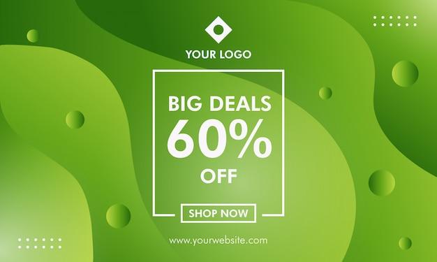 Big deals sale banner vorlage Premium Vektoren