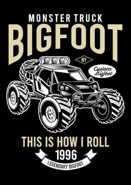 Big foot design illustration Premium Vektoren