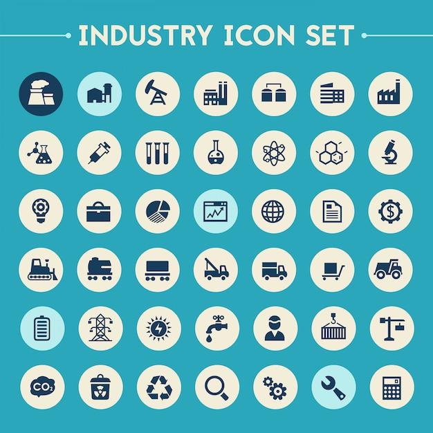 Big industry-icon-set Premium Vektoren