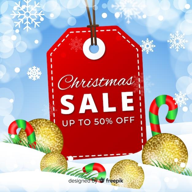 Big label weihnachtsverkauf Kostenlosen Vektoren