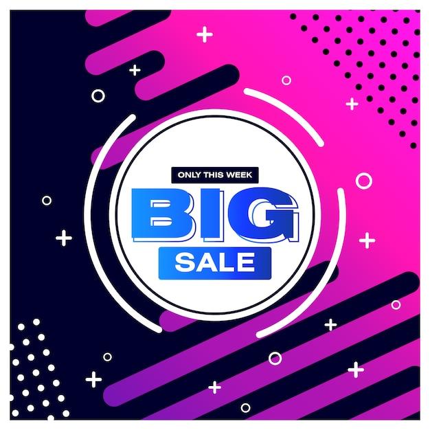 Big sale banner für social media Premium Vektoren
