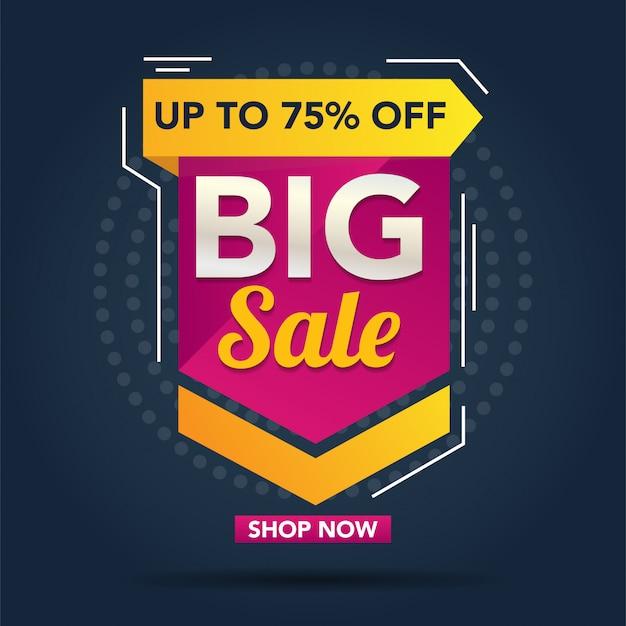 Big sale promotion banner vorlage Premium Vektoren