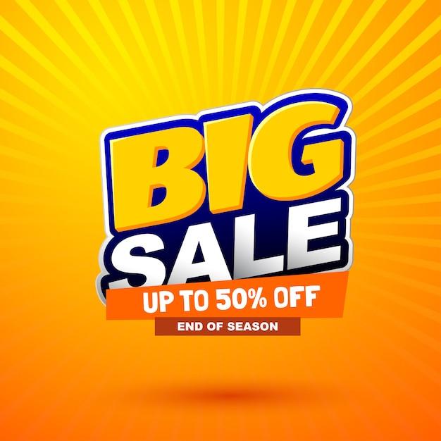 Big sale sonderangebot banner Premium Vektoren