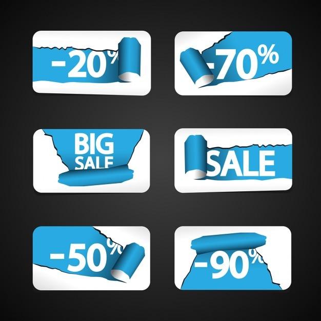 Big verkauf etiketten Kostenlosen Vektoren