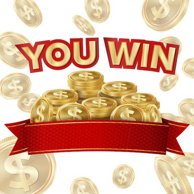 Big win banner für online casino Premium Vektoren