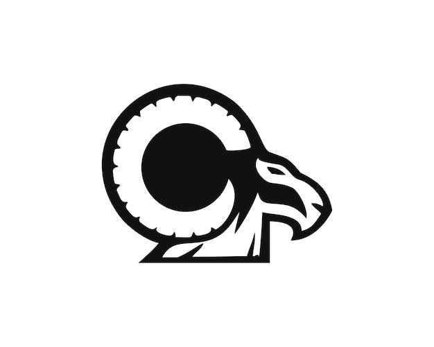 Bighorn-logo Premium Vektoren