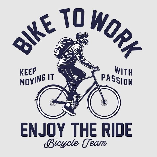 Bike to work illustration Premium Vektoren