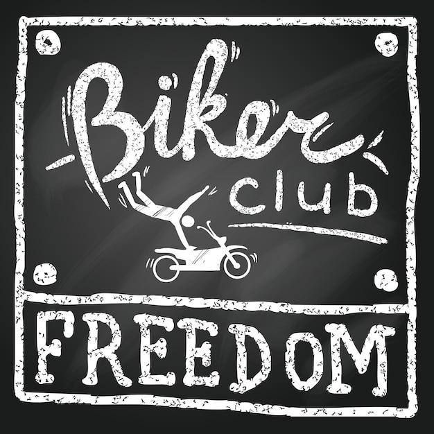 Biker club freiheit Kostenlosen Vektoren