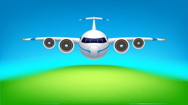 Bild des flugzeugs Premium Vektoren