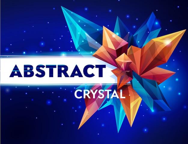 Bild eines facettierten kristalls Premium Vektoren