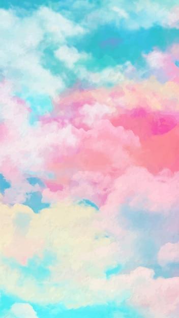 Bilder für das handy mit aquarell himmel Kostenlosen Vektoren