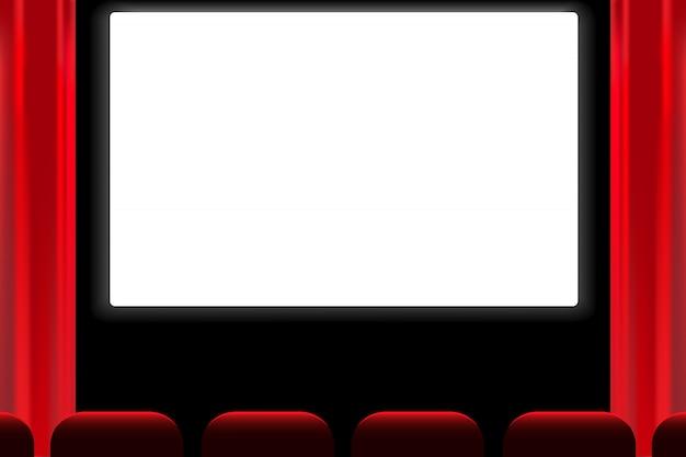 Bildschirm kino halle vektor. Premium Vektoren