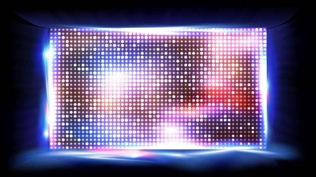 Bildschirm-led auf der stadionbühne Premium Vektoren