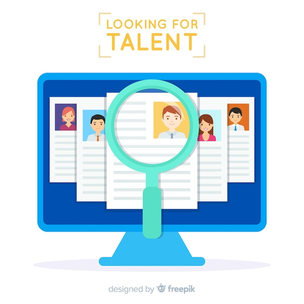 Bildschirm sucht talent hintergrund Kostenlosen Vektoren