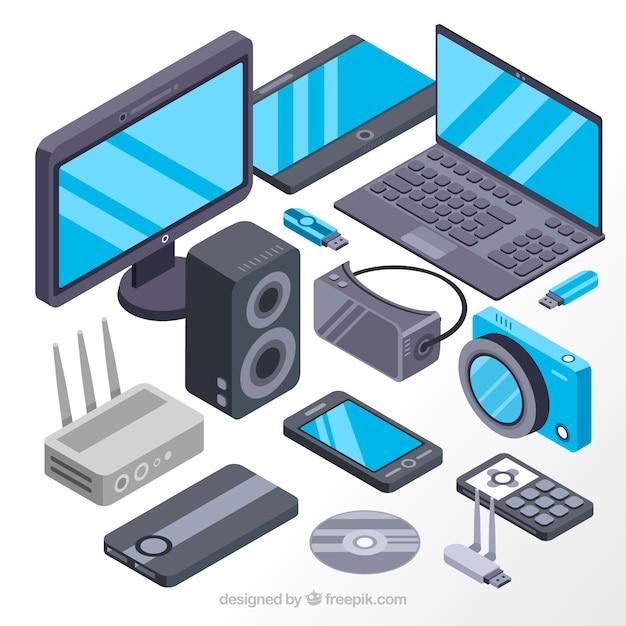 Bildschirme und isometrische elektronische Geräte | Download der ...