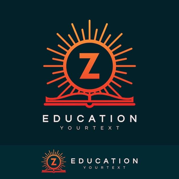 Bildung anfangsbuchstabe z logo design Premium Vektoren