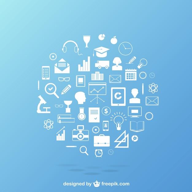 Bildung icons pack Kostenlosen Vektoren