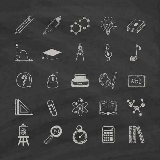 Bildung-Ikonen Kostenlose Vektoren