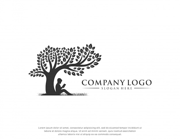 Bildung logo inspiration flaches design Premium Vektoren