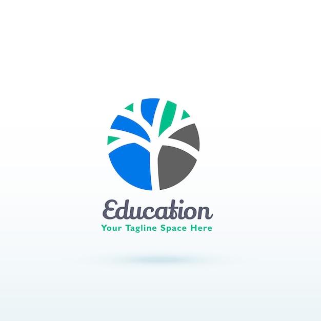 Bildung oder skill logo konzept mit kreativen baum design Kostenlosen Vektoren