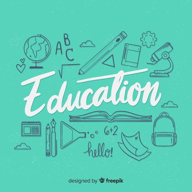 Bildung schriftzug Kostenlosen Vektoren