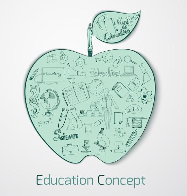 Bildungs-gekritzel-konzept Kostenlosen Vektoren