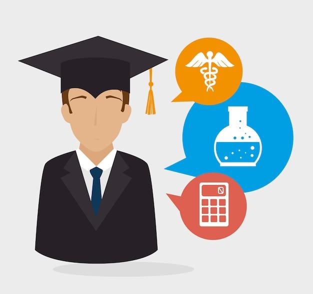 Bildungsdesign. Premium Vektoren