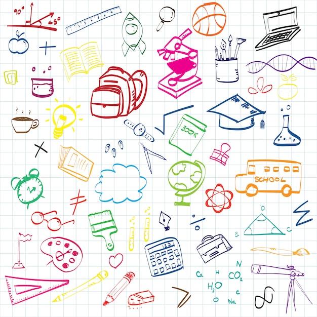 Bildungskonzept hintergrund Premium Vektoren