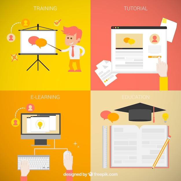 Bildungsprozess Kostenlosen Vektoren