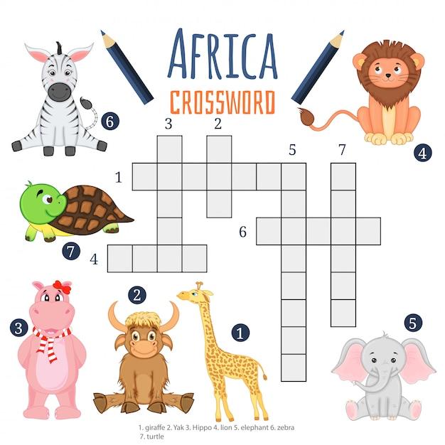 Bildungsspiel für kinder über tiere Premium Vektoren