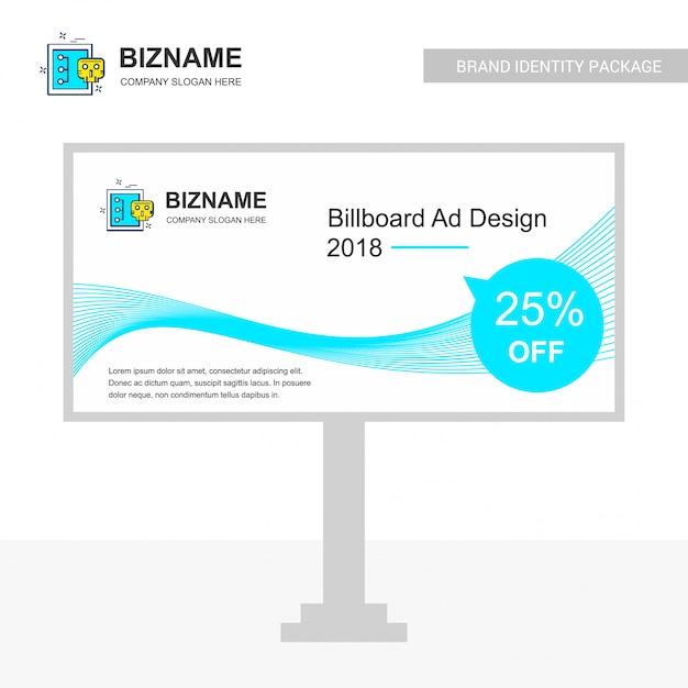 Billboard-design Kostenlosen Vektoren
