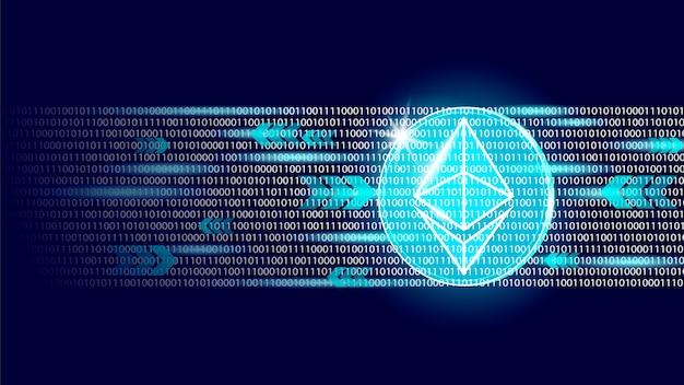 Binärcode-nummer des digitalen kryptowährungszeichens von ethereum. große daten Premium Vektoren