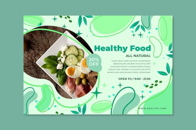 Bio & gesunde lebensmittel banner Kostenlosen Vektoren
