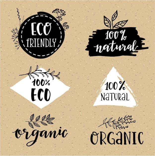Bio-logo-set Kostenlosen Vektoren