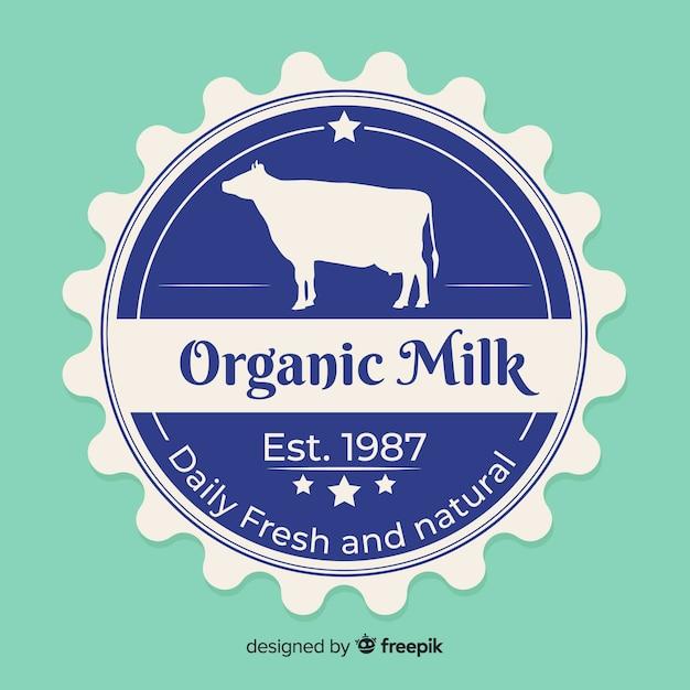 Bio-milch logo hintergrund Kostenlosen Vektoren