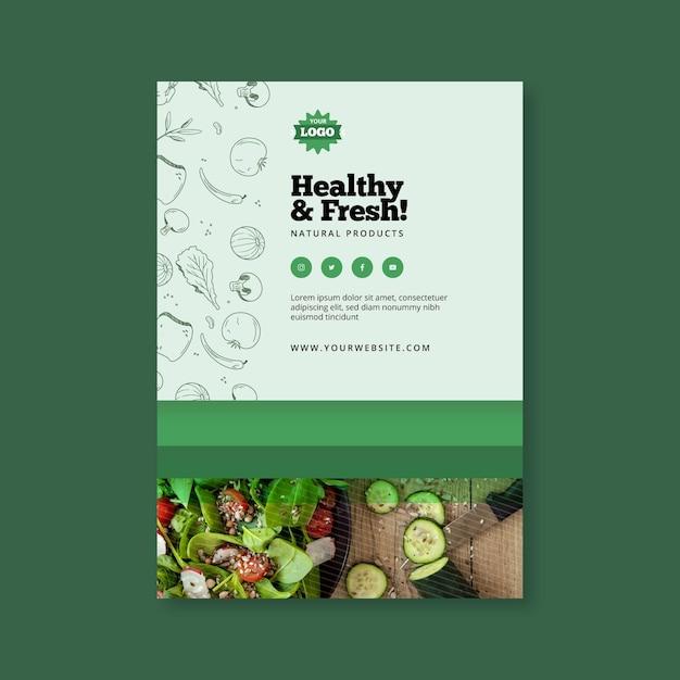 Bio- und gesunde lebensmittelplakat Premium Vektoren