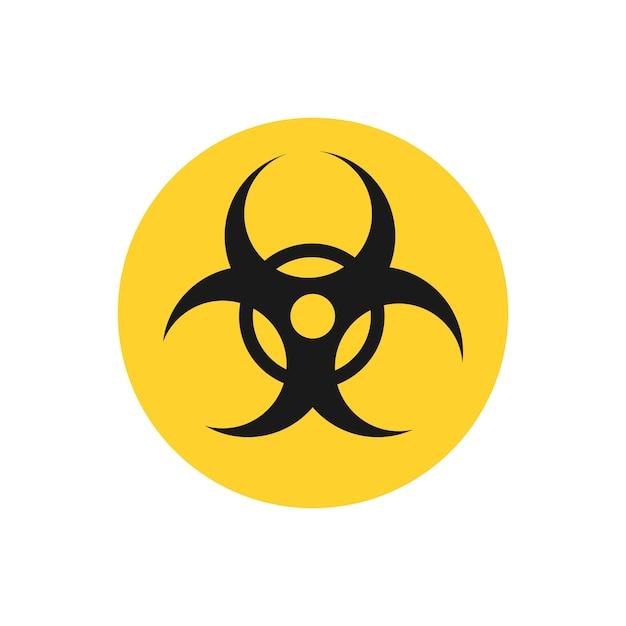 Biohazard-gelbe kreiszeichen-grafikillustration Kostenlosen Vektoren