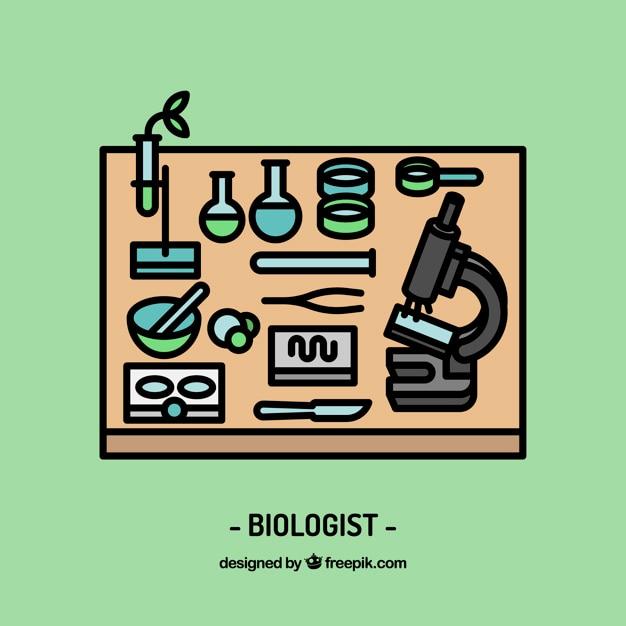 Biologe arbeitsplatzgestaltung Kostenlosen Vektoren