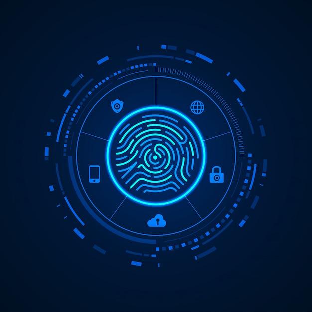 Biometrische konzepte Premium Vektoren