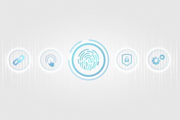 Biometrisches sicherheitskonzept Kostenlosen Vektoren