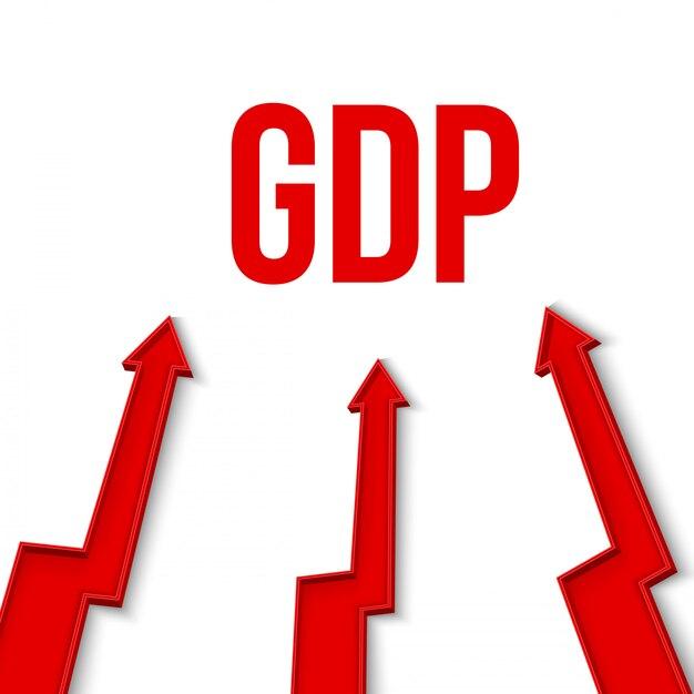 Bip, bruttoinlandsprodukt, finanzielles wachstum. Premium Vektoren