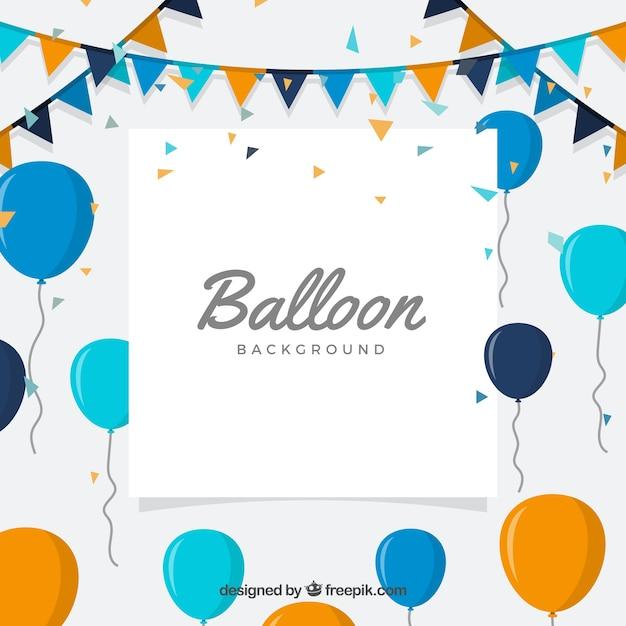 Birhtday ballone hintergrund zu feiern Kostenlosen Vektoren
