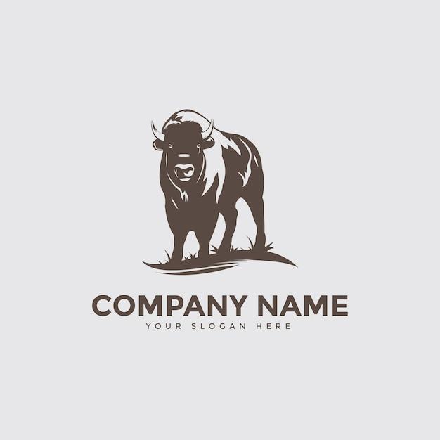 Bison farm logo Premium Vektoren